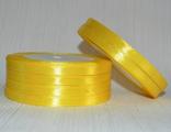 Лента атласная желтая 7 мм.