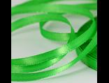 Лента атласная зеленая 7 мм.