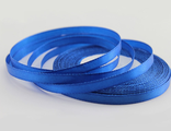 Лента атласная синяя 7 мм.