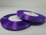 Лента атласная фиолетовая 7 мм.
