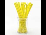 Палочки для кейк-попсов/меренги желтые - 50 шт. Длина 15 см.