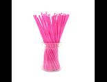 Палочки для кейк-попсов/меренги розовые - 50 шт. Длина 15 см.