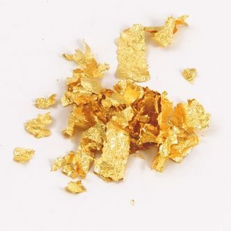Пищевое золото - хлопья одного листа (14*14 см)