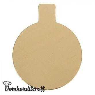 Подложка для пирожного с держателем d8 золото см