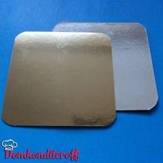 Подложка картонная квадратная серебро 29*29 см 1,3 мм