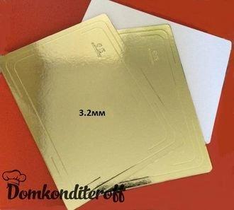 Подложка усиленная двусторонняя золото/белый 3.2мм 40х60
