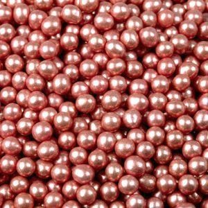 Посыпка шарики красный металлик 5 мм. 50 гр.