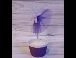 Топпер балерина фиолетовый с блестками