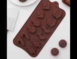 Форма для шоколада Новый год 12 ячеек