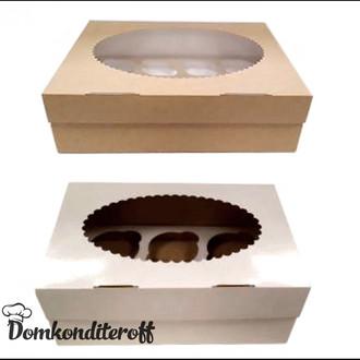 Упаковка для 6 капкейков двусторонняя Pasticciere при покупке от 25 шт.