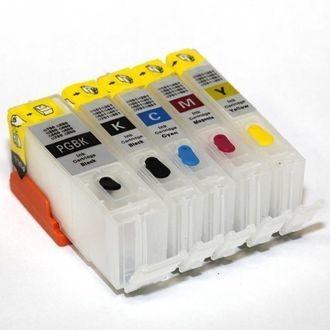 ПЗК для пищевых чернил принтеров Canon. Набор из 5 штук. Авточип.