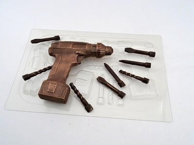 Форма для шоколада Шуруповерт