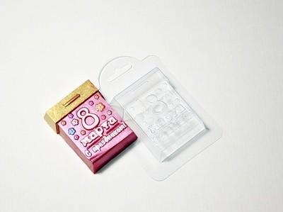 Пластиковая форма Календарь 8 марта (7,5х5,5 см)