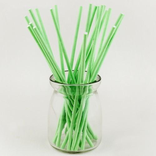 Палочки для кейк-попсов/меренги зеленые - 50 шт. Длина 10 см.