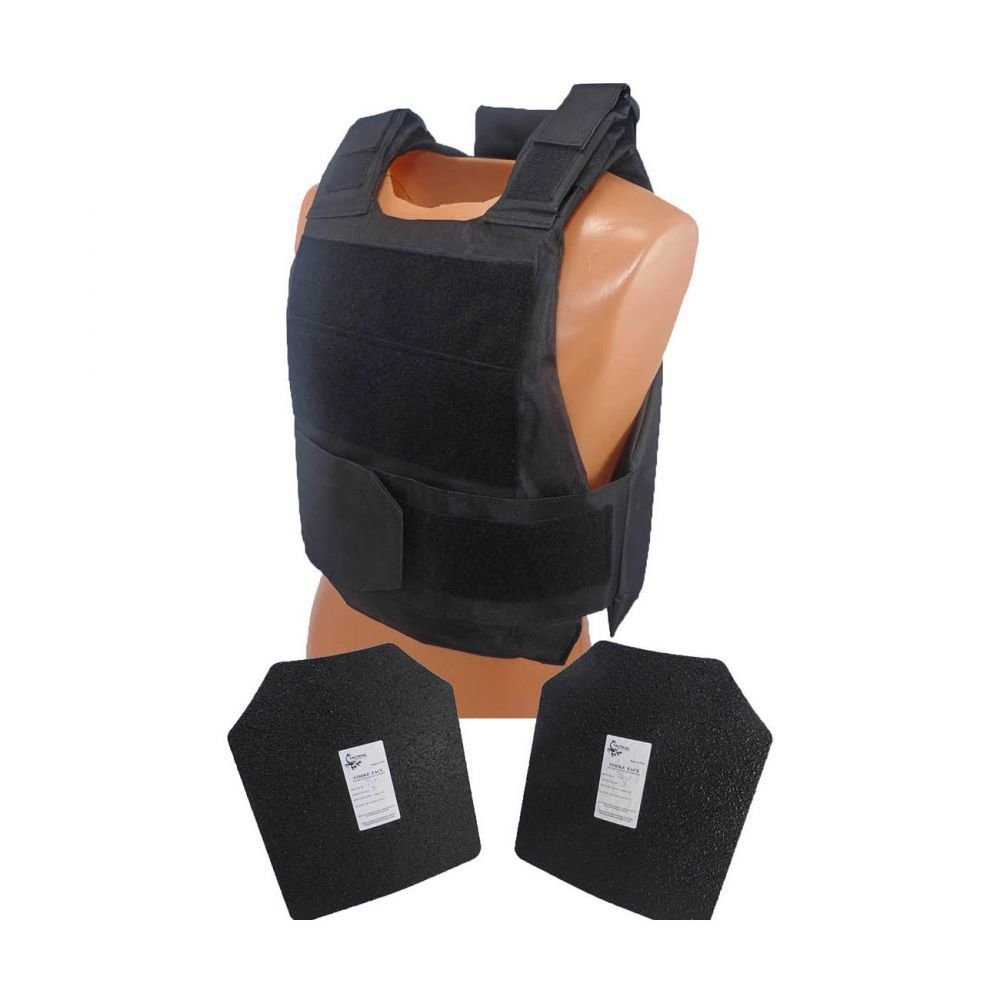 "Armor type: Complete with 2 10"" x 12"" AR500 steel Level III plates  Size: Fully adjustable shoulder straps and girth - Small to XXLarge"