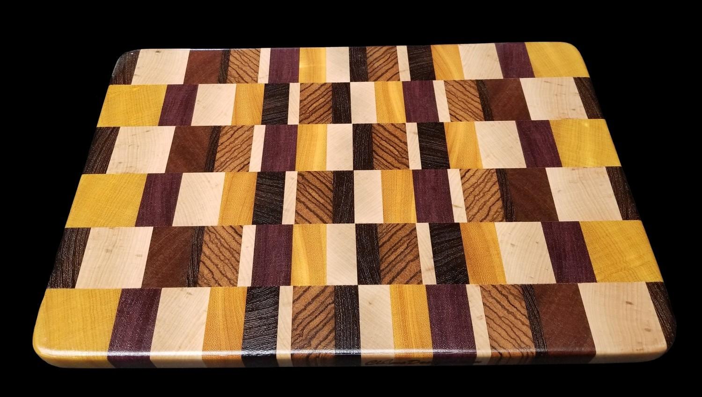 """Cutting Board, End Grain, 13 3/4"""" x 9 1/8"""" x 3/4"""" Thick"""