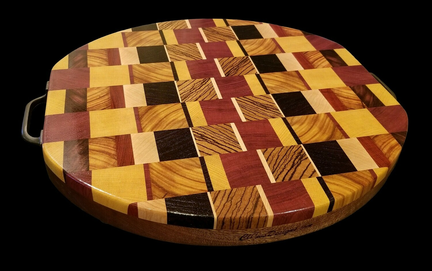 "Cutting Board, 2 Layer, End Grain, 14 1/2"" x 13 1/4"" x 1 1/2"" Thick"