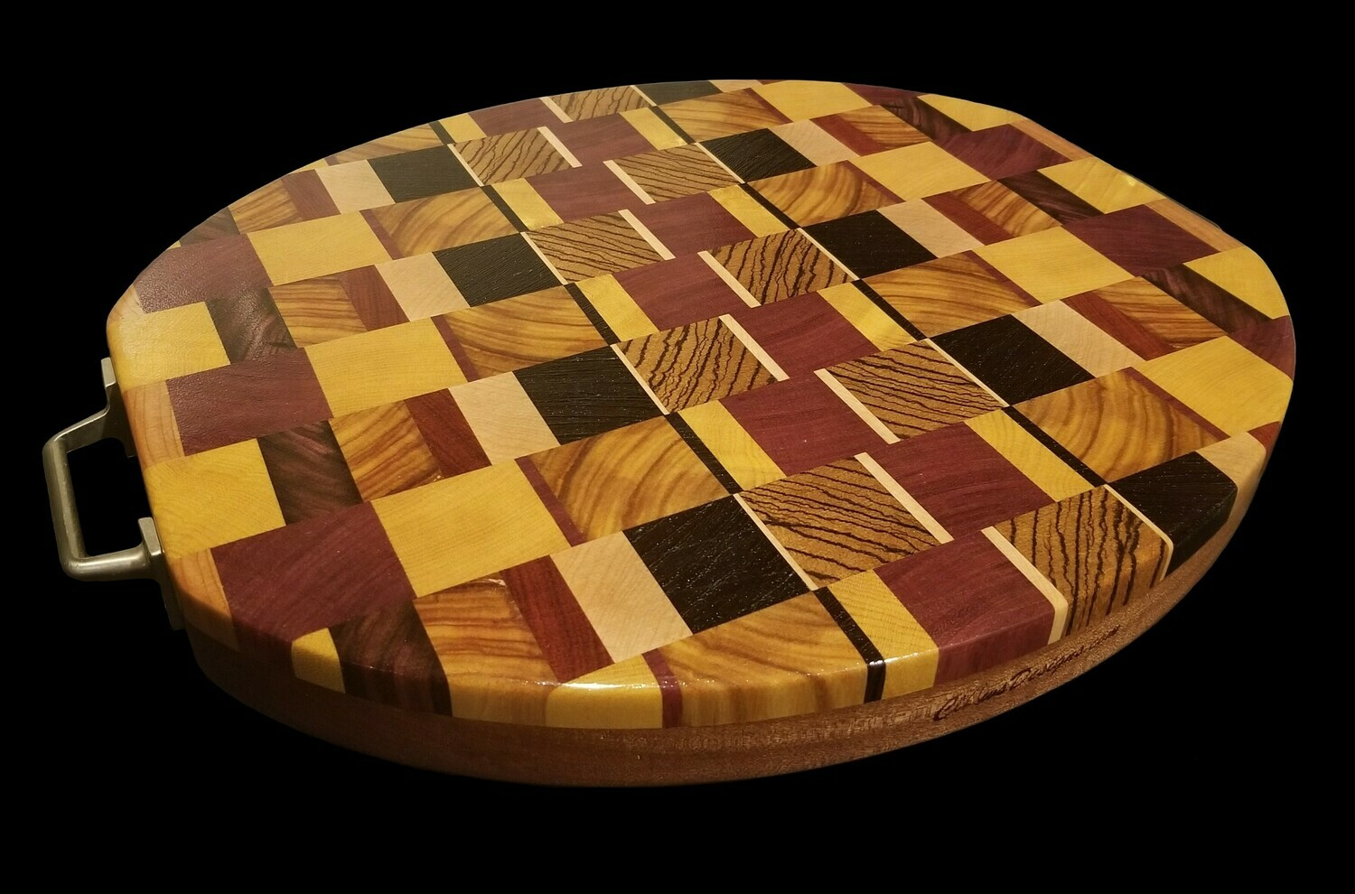 "Cutting Board, 2 Layer, End Grain, 15 1/4"" x 13 1/2"" x 1 1/2"" Thick"