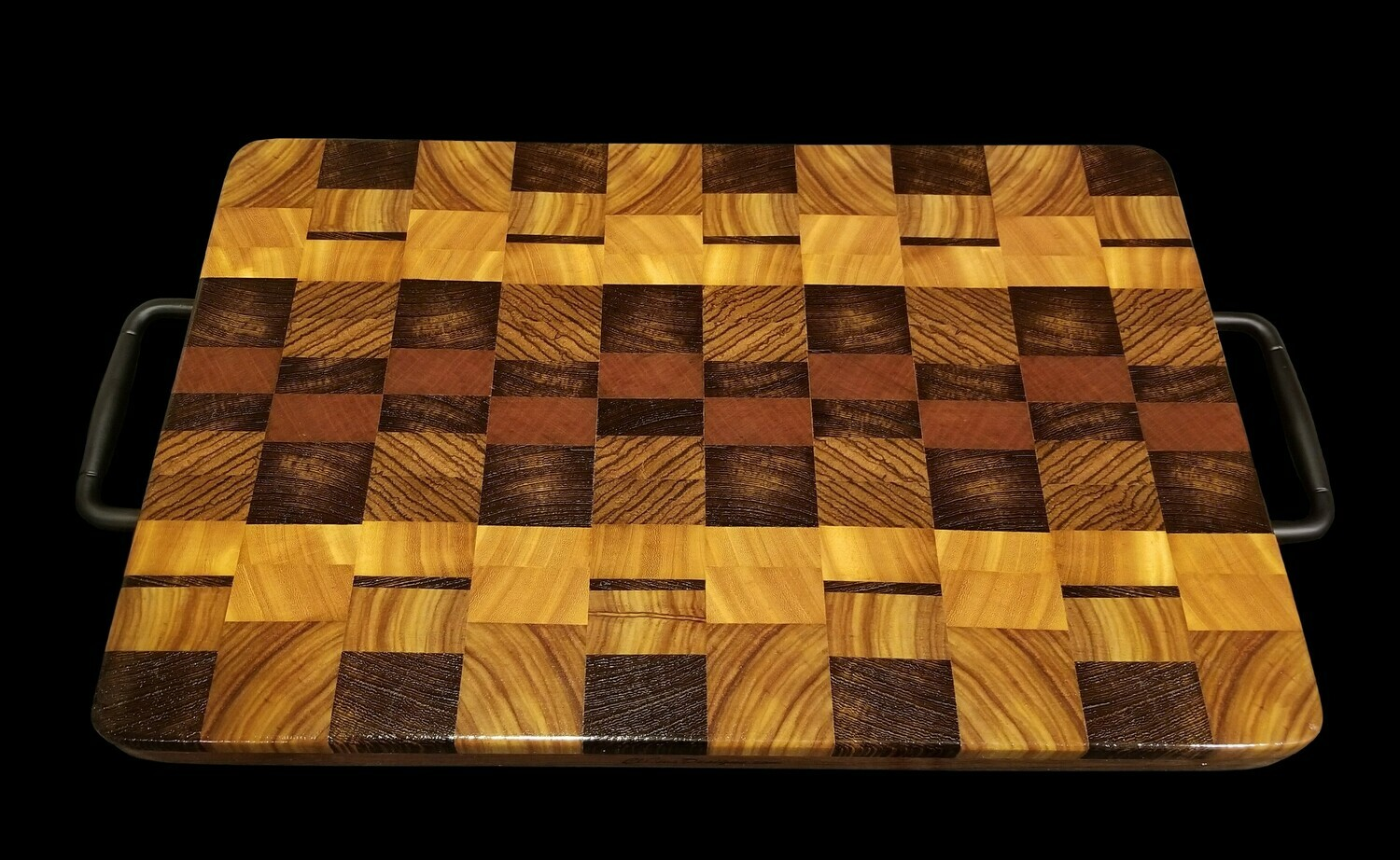 "Cutting Board, 2 Layer, End Grain, 17"" x 12"" x 1 1/2"" Thick"