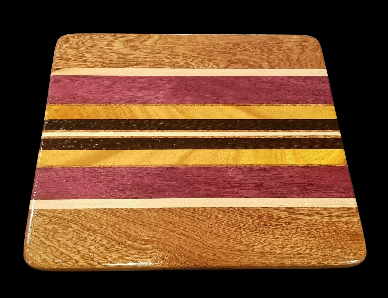 "Cutting Board, Long Grain, 11 1/8"" x 9 3/4"" x 5/8"" Thick"