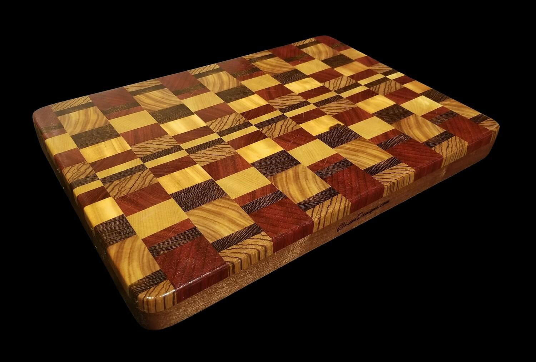 "Cutting Board, 2 Layer, End Grain, 15 3/4"" x 11"" x 1 1/2"" Thick"