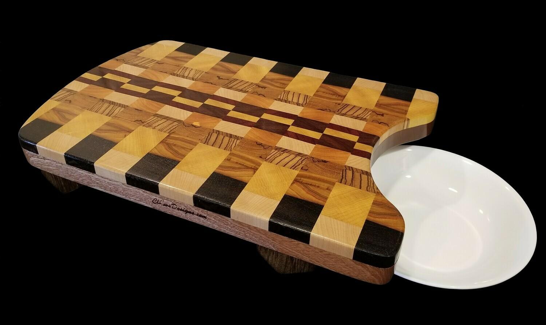 "Cutting Board, Raised w/Cutout, 17 1/2"" x 11 3/8"" x 1 1/2"" Thick"