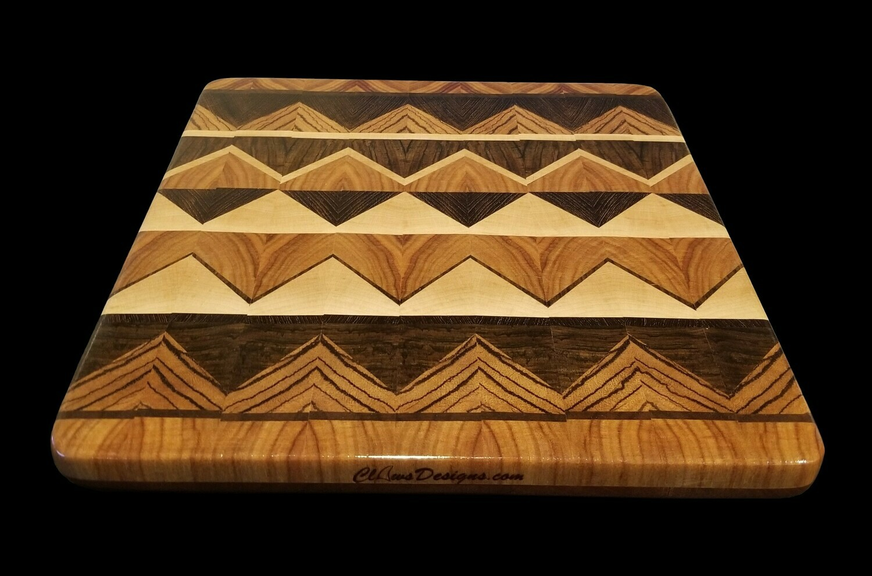 "Cutting Board, Diamond, 2 Layer, 11 1/4"" x 11 3/4"" x 1 1/2"" Thick"