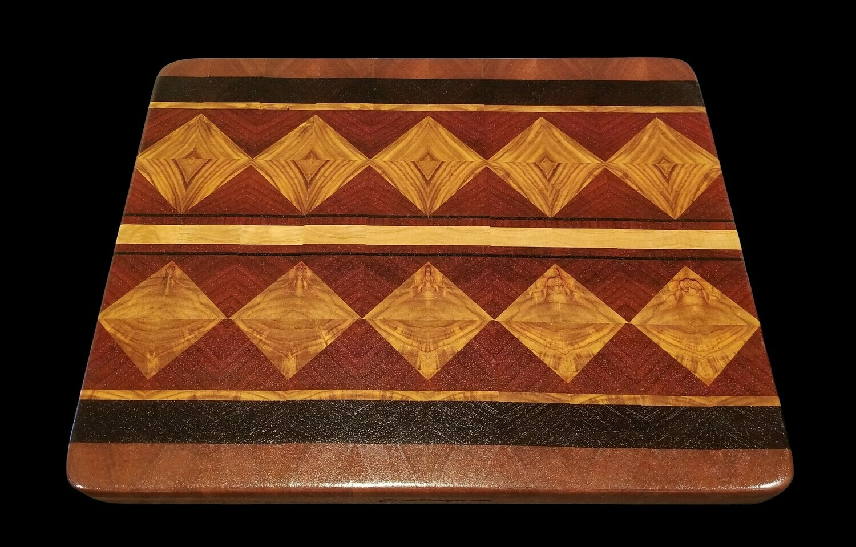 "Cutting Board, Diamond, 2 Layer, 15 1/2"" x 12 1/4"" x 1 3/8"" Thick"