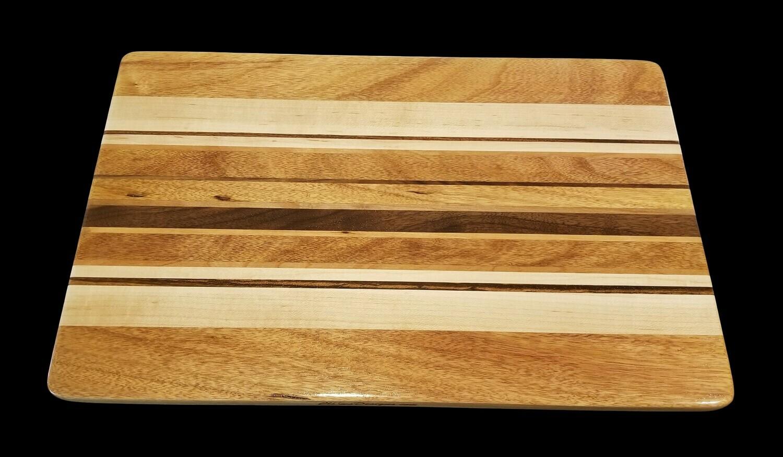 "Cutting Board, Long Grain, 16 3/4"" x 10 5/8"" x 3/4"" Thick"