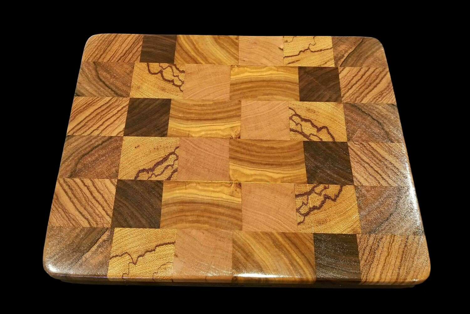 "Cutting Board, 2 Layer, End Grain, 11 3/4"" x 9 1/4"" x 1 1/4"" Thick"