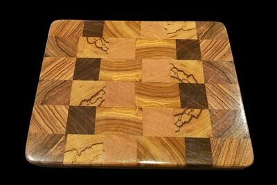 Cutting Board, 2 Layer, End Grain, 11 3/4