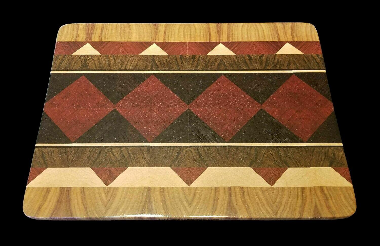 "Cutting Board, Diamond, 13 1/4"" x 9 3/4"" x 3/4"" Thick"