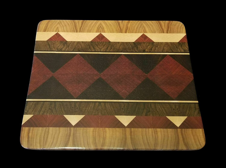 "Cutting Board, Diamond, 11 1/2"" x 9 3/4"" x 3/4"" Thick"