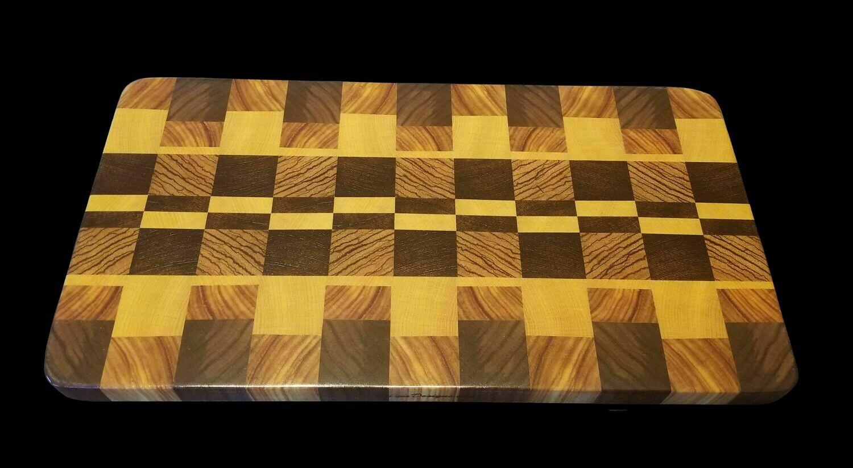 """Cutting Board, End Grain, 18 1/2"""" x 9 1/2"""" x 1 1/8"""" Thick"""