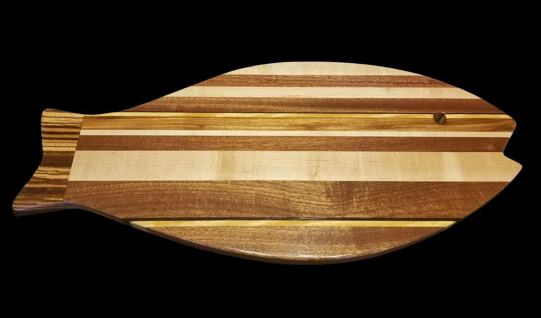 "Cutting Board, Fish Shaped, 24"" x 10 7/8"" x 3/4"" Thick"