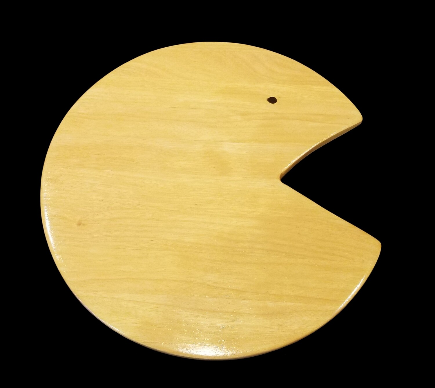 """Cutting Board, Long Grain, PacMan, 10 3/8"""" Round x 3/8"""" Thick"""