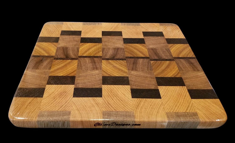"""Cutting Board, End Grain, 10 3/4"""" x 10"""" x 3/4"""" Thick"""