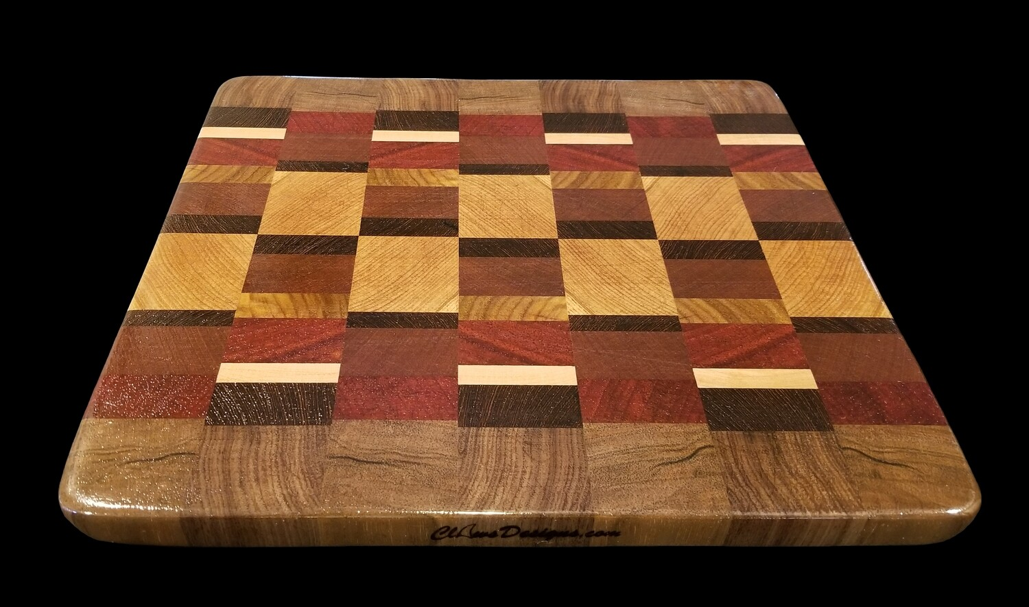 "Cutting Board, End Grain, 12 1/8"" x 11 1/8"" x 3/4"" Thick"