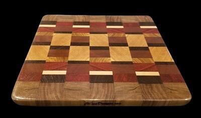 """Cutting Board, End Grain, 12 1/8"""" x 11 1/8"""" x 3/4"""" Thick"""