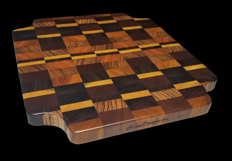 """Cutting Board, End Grain, 13"""" x 12"""" x 7/8"""" Thick"""