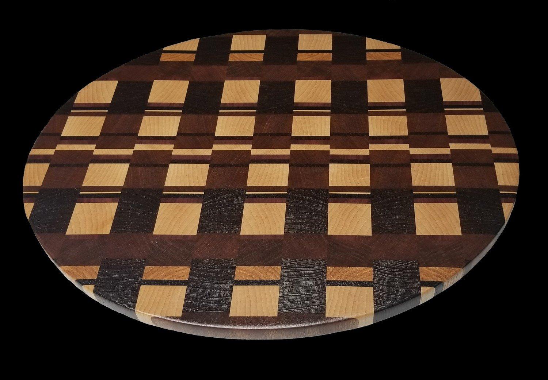 "Cutting Board, Oval, End Grain, 17 1/2"" x 14"" x 3/4"" Thick"