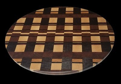 Cutting Board, Oval, End Grain, 17 1/2