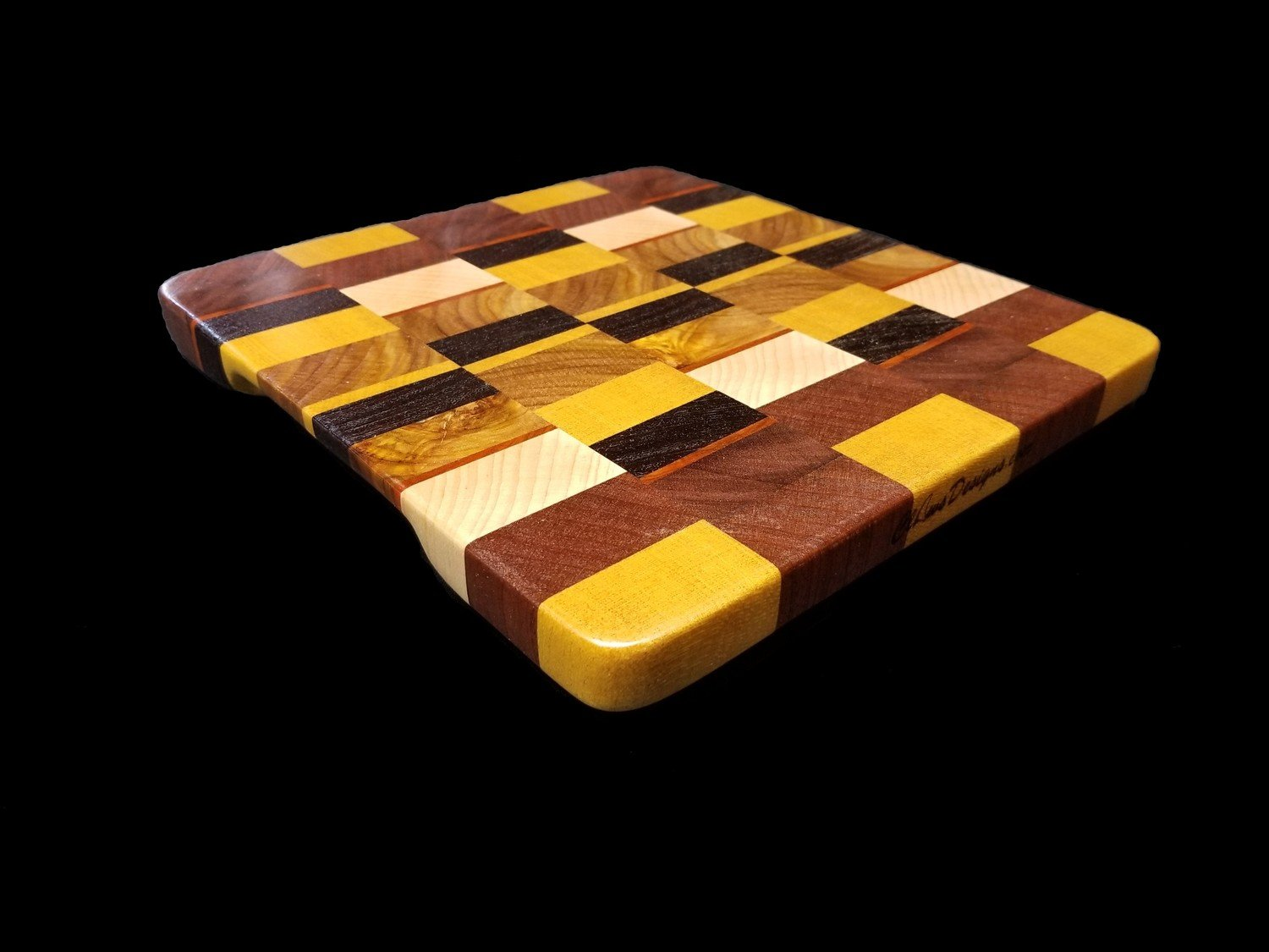 "Cutting Board, End Grain, 9"" x 9 3/4"" x 3/4"" Thick"