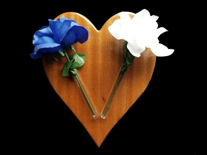 Flower Holder, Decorative Heart shaped