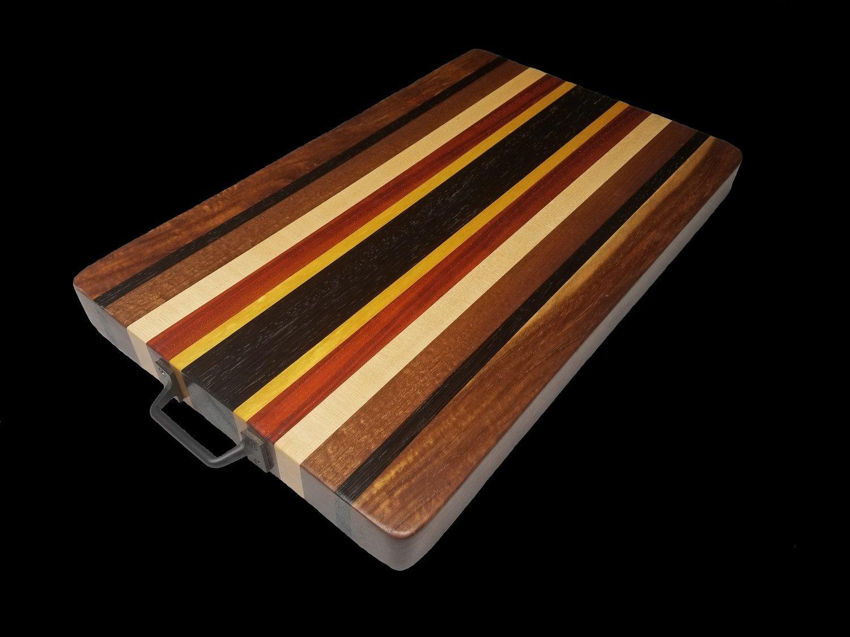 "BBQ Board, Long Grain, 19 1/2"" x 12"" x 1 3/4"" Thick, w/Handles"