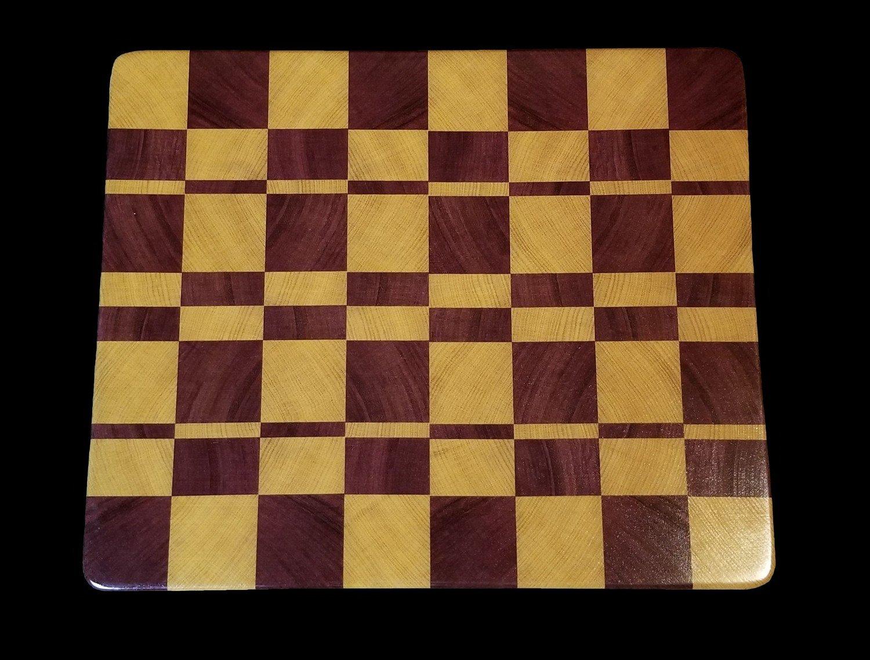 """Cutting Board, End Grain, 14 1/2"""" x 12"""" x 7/8"""" Thick"""