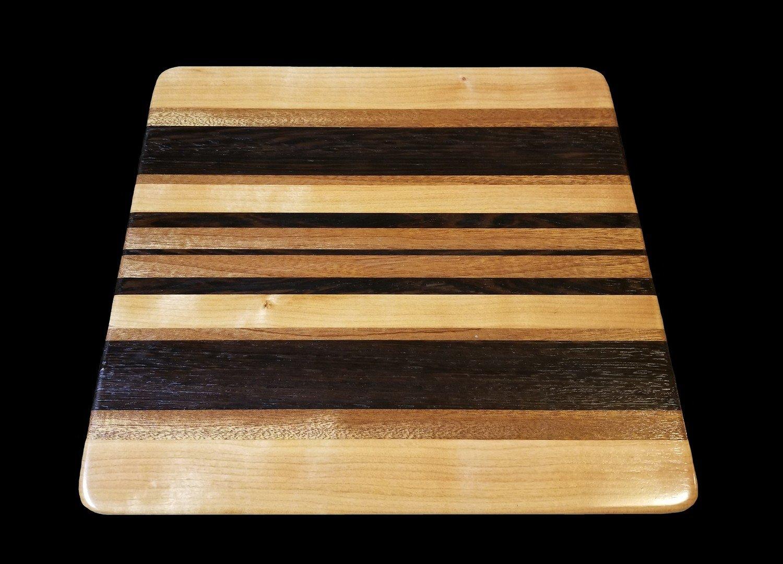 "Cutting Board, Long Grain, 12 1/2"" x 11 3/4"" x 3/4"" Thick"