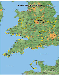 England Birmingham Mission LARGE (11X14) Digital Download Only