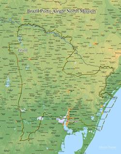 Brazil Porto Alegre North Mission LARGE (11X14) Digital Download Only