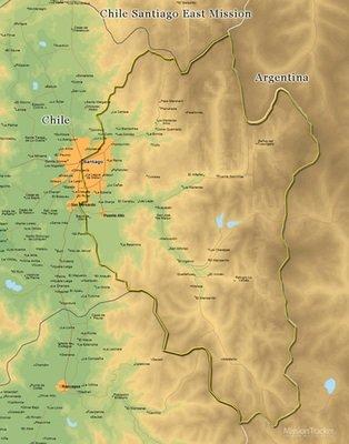 Chile Santiago East Mission LARGE (11X14) Digital Download Only